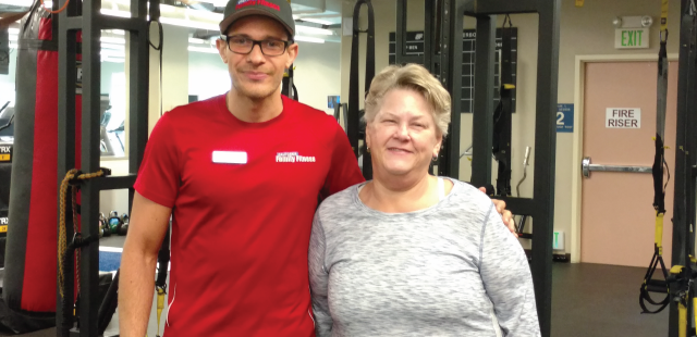 sacramento personal trainer with woman recovering from stroke