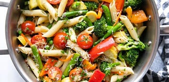 Meal Prep: Pasta Primavera + Chicken