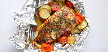 Meal Prep: Salmon and Veggie Foil Packets