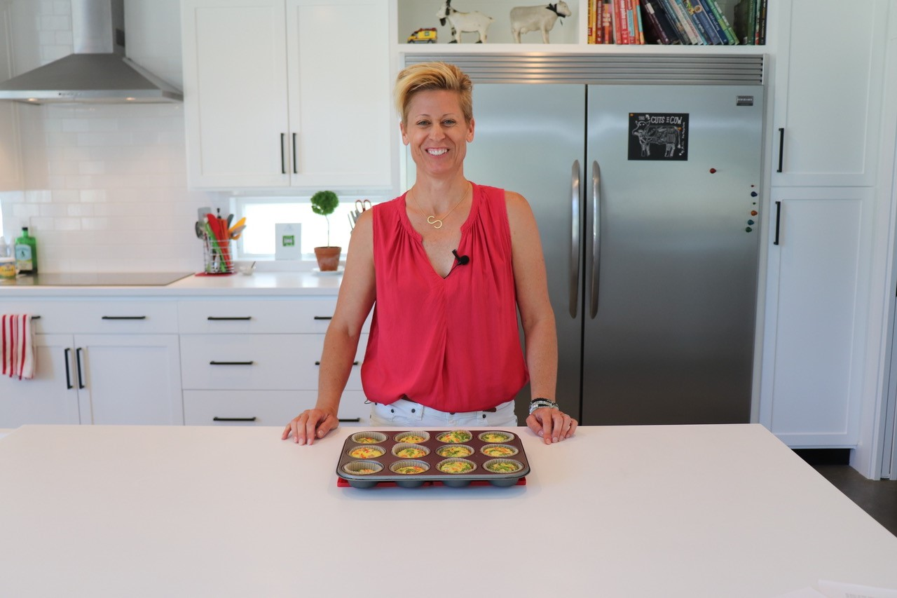 Stacey with Frittata