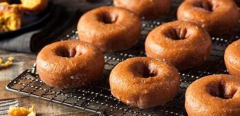 Baked Sweet Potato Doughnuts with Dark Chocolate