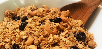 Homemade Granola with Greek Yogurt and Figs
