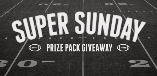 Enter to Win the Super Sunday Prize Pack Giveaway!