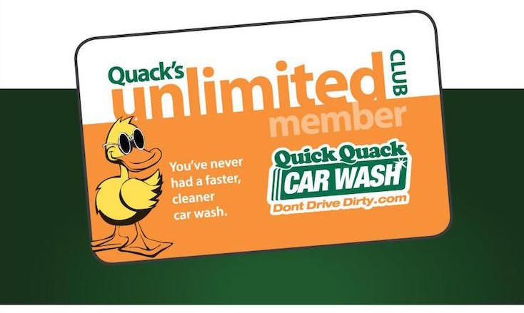 quick quack car wash logo for cal fit membership perks program