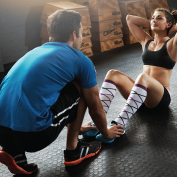 woman training with sacramento personal trainer
