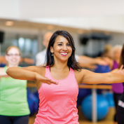 woman in sacramento fitness class