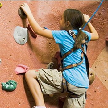 kid trying indoor rock climbing in sacramento