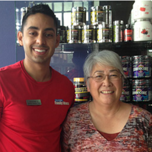 woman with sacramento personal trainer